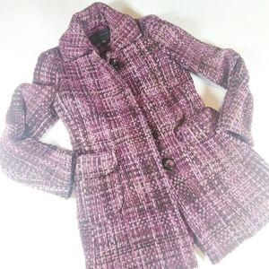 Banana Republic Wool Mohair Tweed Pea Coat Size S
